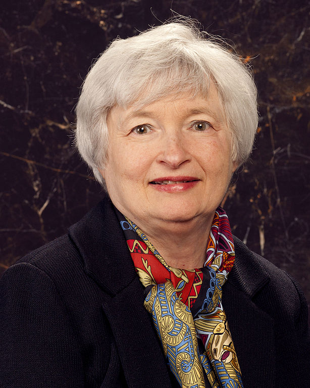 Official portrait of Federal Reserve Chairman  Janet Yellen.