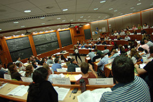 Inside a Harvard Business School classroom. Photo by HBS1908