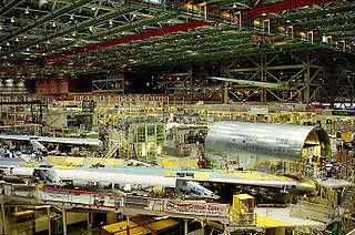 Interior of Boeing Factory, Seattle. Photo by Meutia Chaerani / Indradi Soemardjan