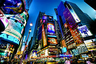 Times Square. One of the highest rental districts in the US. Photo by Francisco Diez from New Jersey, USA