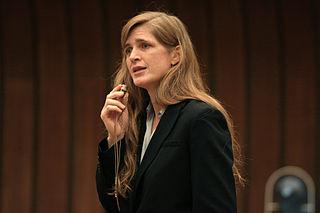 Samantha Power. United States Mission Geneva Photo: Eric Bridiers