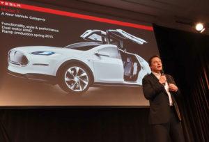 Elon Musk at the Tesla Annual Shareholder Meeting today. Photo by  Steve Jurvetson