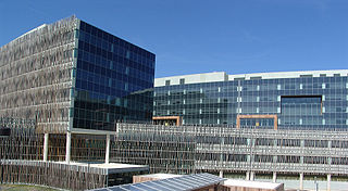 Partial view of the headquarters building of the United States Census Bureau in Suitland, Maryland. Over 4,000 people work in the building.