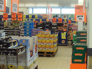 he interior of a Lidl store in Nottingham, England. Photo by Besijollen.