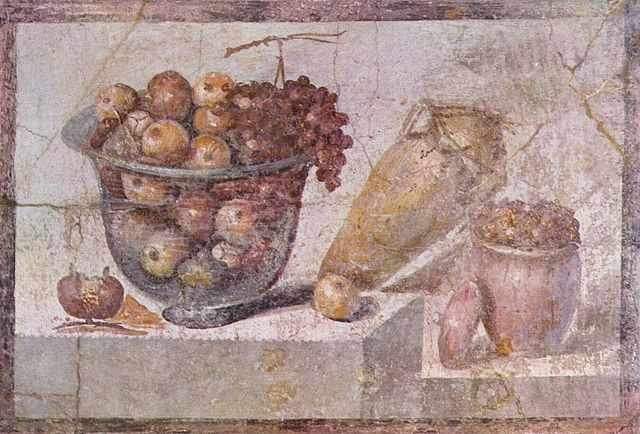 Still live by Pompeian painter around 70 AD.